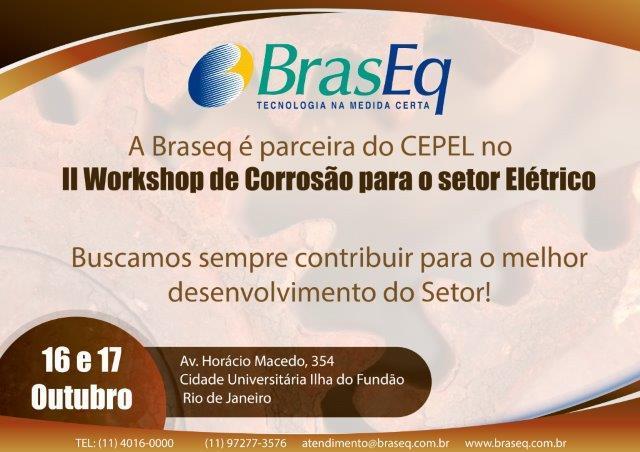 16 e 17/10/2018 > II Workshop de Corrosão para o Setor Elétrico - Rio de Janeiro/RJ